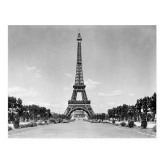 Postal Torre Eiffel, París Francia 1909
