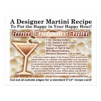 Postal tostada de la receta de Martini de la