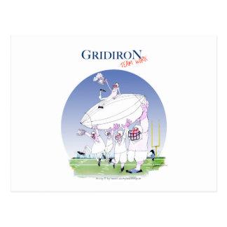 Postal Trabajo en equipo del Gridiron, fernandes tony