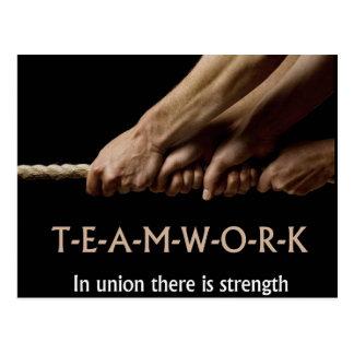 Postal Trabajo en equipo: En fuerza de la unión