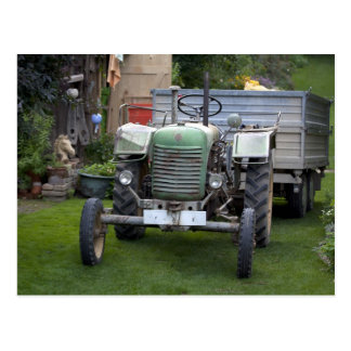 Postal Tractor verde 80A de Steyr