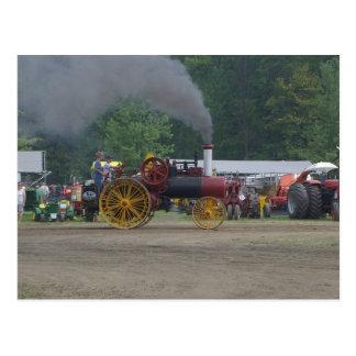 Postal Tractor viejo del motor del carbón