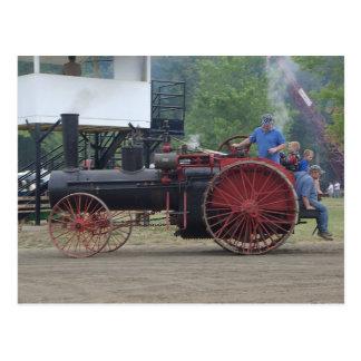 Postal Tractor viejo del motor del vapor/del carbón