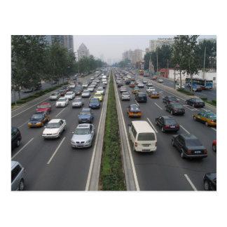 Postal Tráfico en Pekín China
