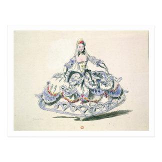 Postal Traje de la ópera, de la colección de Plaisirs de