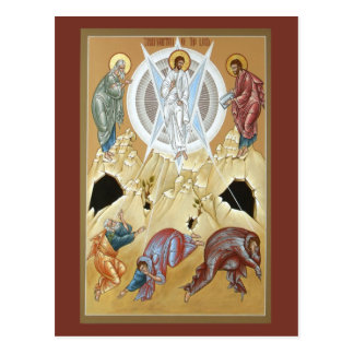 Postal Transfiguración del señor Prayer Card
