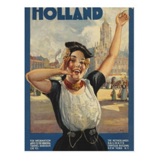 Postal Transporte aéreo de Holanda del vintage