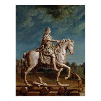 Postal Transporte de la estatua ecuestre de Louis XIV