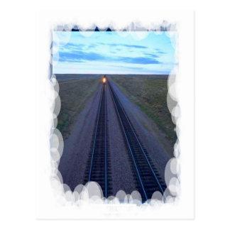 Postal Transporte del vintage - pista larga a