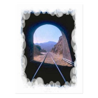 Postal Transporte del vintage - visión de túnel
