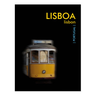 Postal Tranvía amarilla de Lisboa - LISBOA