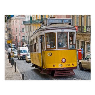 Postal Tranvía clásica en Lisboa, Portugal