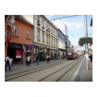 Postal tranvía de la calle de Bratislava