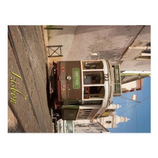 Postal Tranvía del viaje de Lisboa