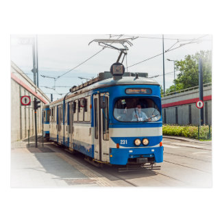 Postal Tranvía en Kraków, Polonia