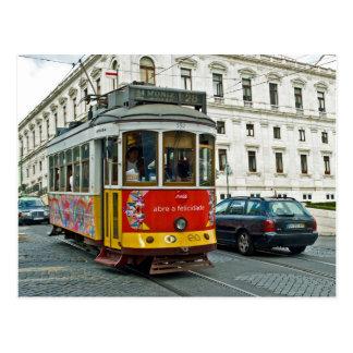 Postal Tranvía en Lisboa, Portugal