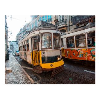 Postal Tranvías viejas de Lisboa