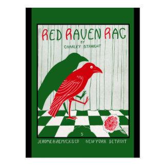 Postal Trapo rojo del cuervo