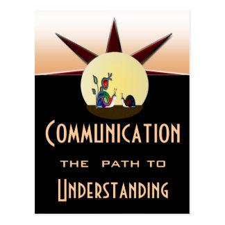 Postal Trayectoria de comunicación a la comprensión