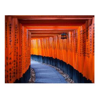 Postal Trayectoria de Torii de la capilla de Fushimi