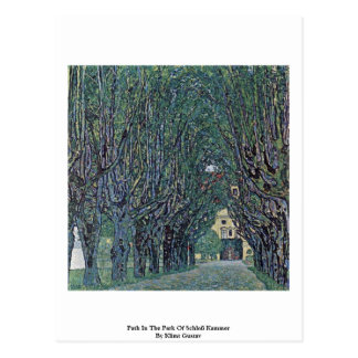 Postal Trayectoria en el parque de Schloß Kammer de Klimt