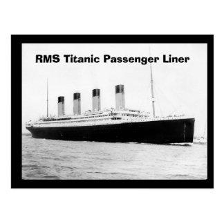 Postal Trazador de líneas de pasajero titánico del RMS