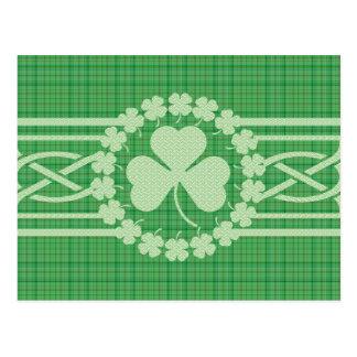 Postal Trébol céltico irlandés
