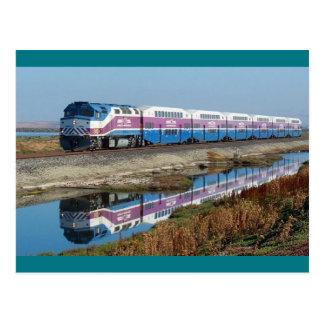 Postal - tren de cercanías del AS, California