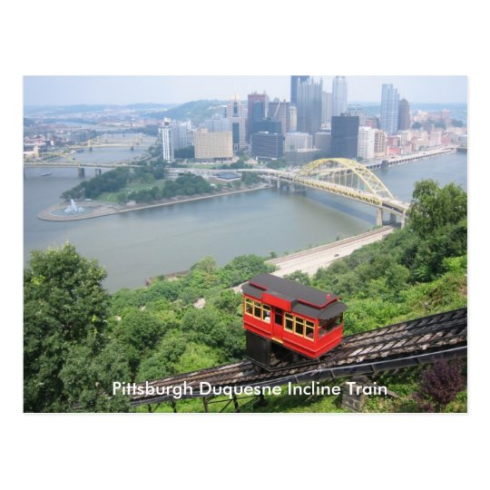 Postal Tren de la pendiente de Pennsylvania Pittsburgh