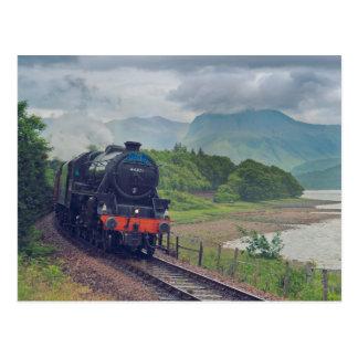 Postal Tren del vapor de Jacobite