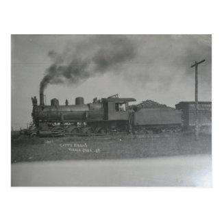 Postal Tren en Talala en 1908