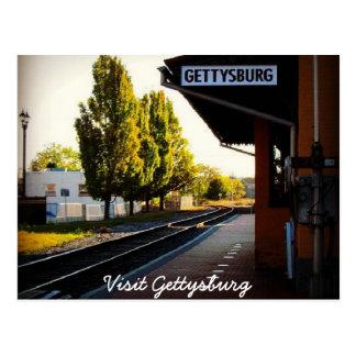 Postal Tren pasado a Gettysburg