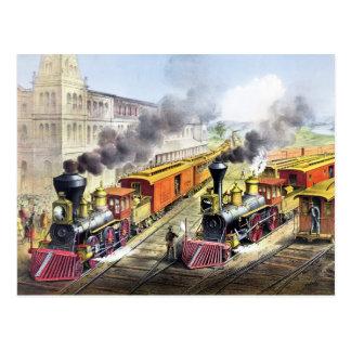 Postal Trenes del motor de vapor