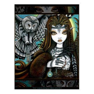 Postal tribal de Fae del tatuaje de la diosa del