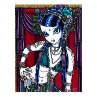 Postal tribal de la bailarina de la danza del