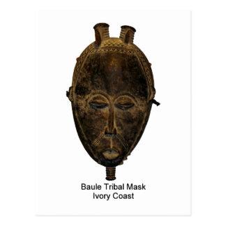 Postal tribal de la máscara de Baule