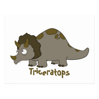 Postal Triceratops del dibujo animado