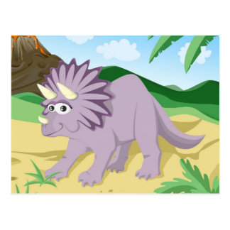 Postal Triceratops del dinosaurio