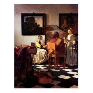 Postal Trío musical de Juan Vermeer