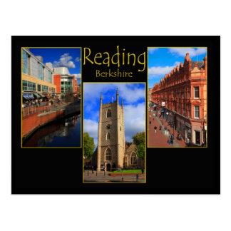 Postal triple de la visión de la lectura,
