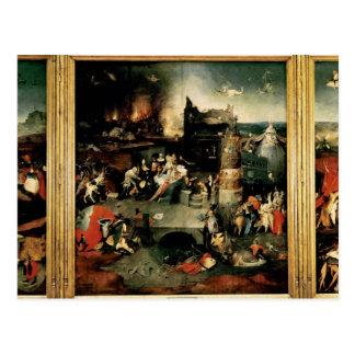 Postal Tríptico: La tentación de St Anthony