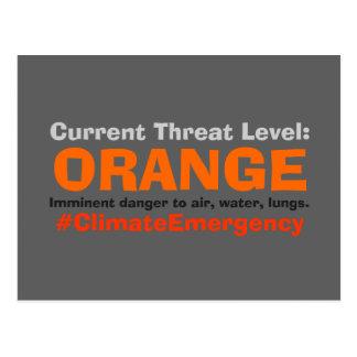 Postal Triunfo anaranjado llano de la protesta de la