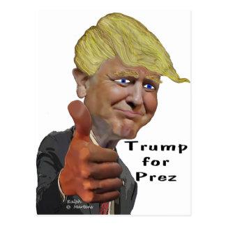 Postal Triunfo chistoso divertido del producto de Donald