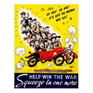 Postal Triunfo de la ayuda la guerra - Carpool