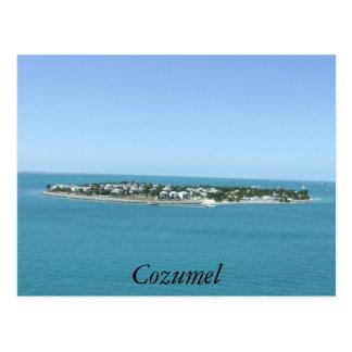 Postal tropical del agua azul de la isla de