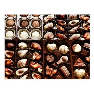 Postal Trufas de chocolate formadas, gastrónomas