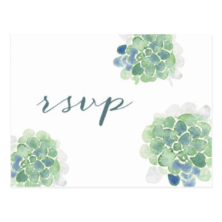 Postal Trullo adaptable RSVP de los Succulents de la