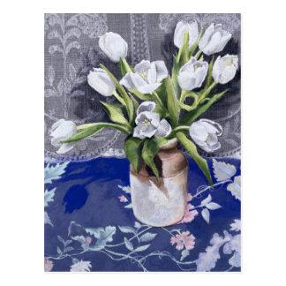 Postal Tulipanes blancos 1994