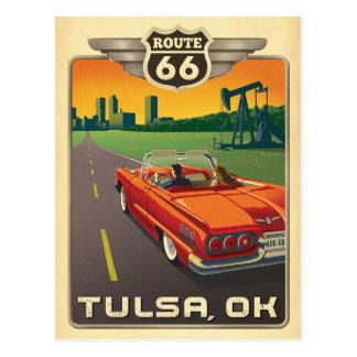 Postal Tulsa, AUTORIZACIÓN - ruta 66
