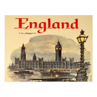 Postal turismo retro Big Ben del vintage de Londres